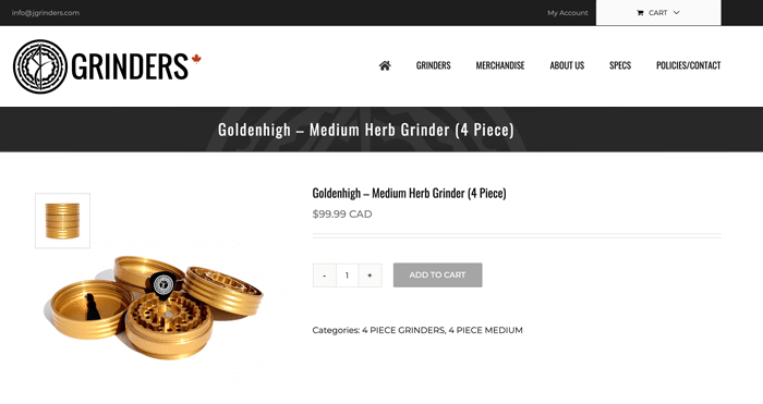 Ecommerce Website Design - JGrinders
